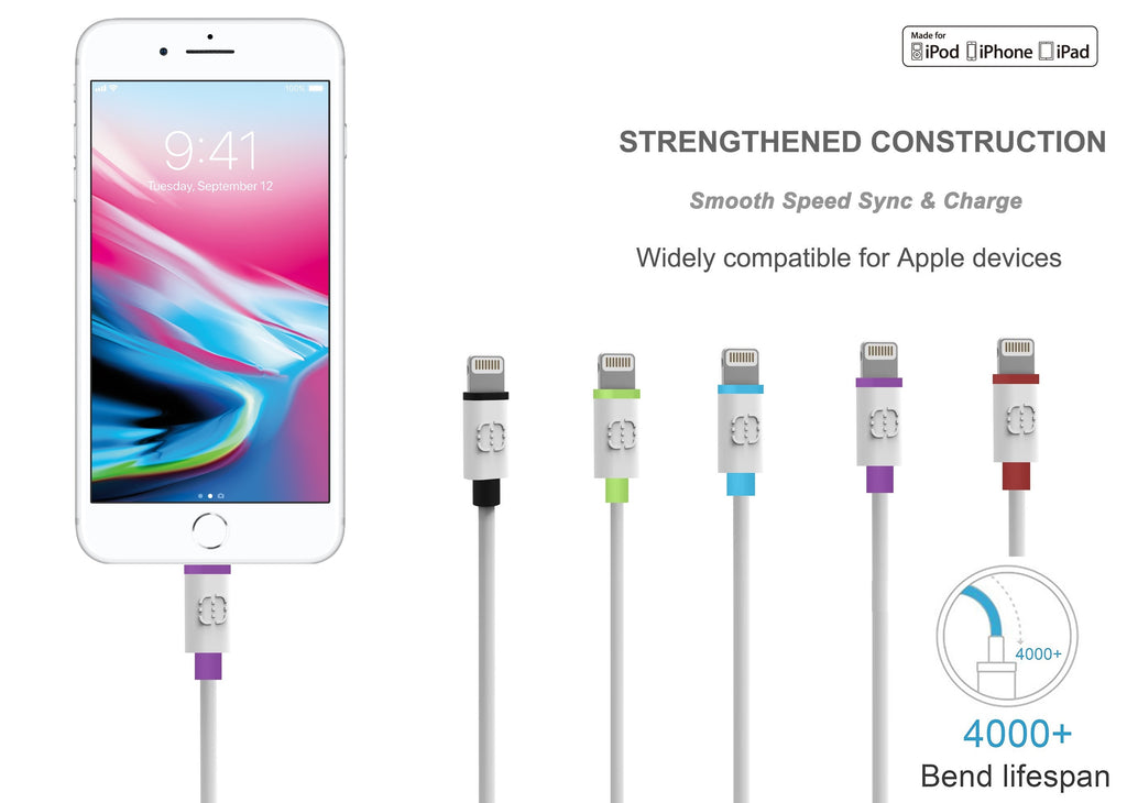 009662da1 Apple MFi Certified 4 ft Lightning to USB Fast Charging Cable – LAX ...