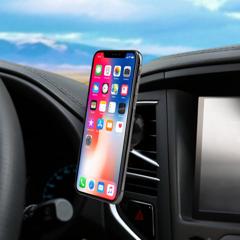 Magnetic Matt Air Vent Car Mount Phone Holder for Apple, Android Smartphones