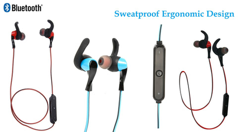 Bluetooth In-ear Sports Earphones Earbuds Headsets For iphone Samsung Universal