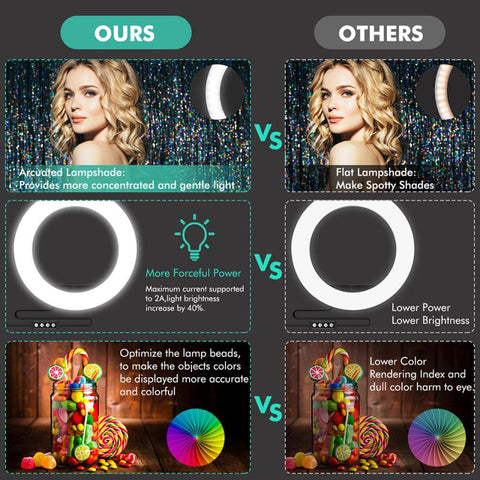 LAX Selfie Ring LED Light Stand with Tripod