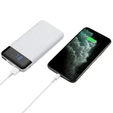 LAX Vegan Leather Power Bank - 12000mAh Battery Backup, Ultra Slim Design - Portable Charger Compatible with iPhone 11, 11 Pro, 11 Pro Max, X, XS Max, Samsung Galaxy S10, S9, More