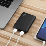 LAX Rubberized 6600mAh Dual USB Compact Power Bank