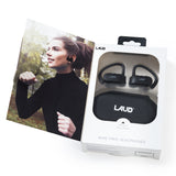 Laud True Wireless Earbuds Bluetooth Headphones with Secure Ear Loop - Completely Wireless Music Experience