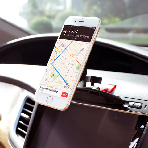 LAX Premium Magnetic CD Slot Car Mount Phone Holder for iPhone, Samsung, Smartphones
