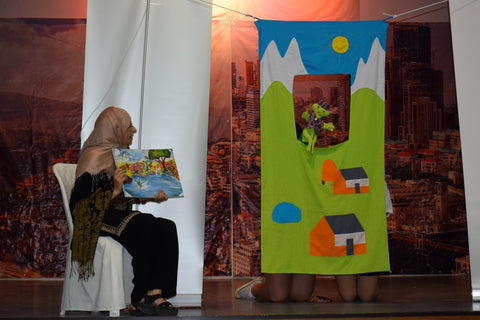Fair Trade Puppet Show with Sabeena Ahmed at the IFTTC 2016 Baskinta Lebanon