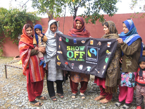 Sabeena Ahmed with Gulshan Bibi - SABAH Pakistan visit and interview Haripur, Pakistan (SHOW OFF YOUR FAIRTRADE LABEL)