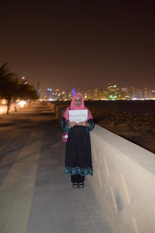 The Lilfairtrade Shop Night of Neon, Dubai, UAE October 2014 - Fairtrade and Breast Cancer Awareness
