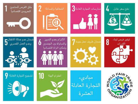 World Fair Trade Organizations 10 Principles of Fairtrade, Arabic