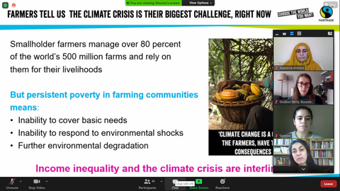 Fairtrade Fortnight 21: Fairtrade, the climate crisis and engagement