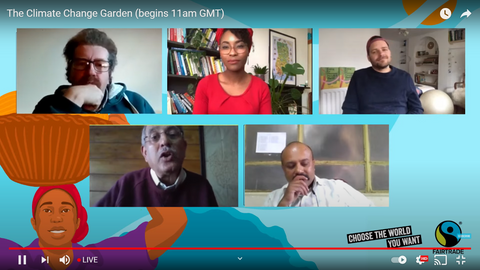 The Climate Change Garden webinar, with guest speakers - Fairtrade Fortnight 21