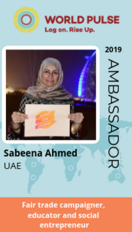 World Pulse Ambassador UAE - Sabeena Ahmed, March 2019