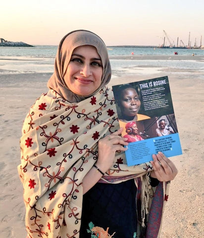 Sabeena Ahmed celebrates Fairtrade Fortnight 2020, Dubai, UAE - Fairtrade Resource of Rosine Bekoin She Deserves