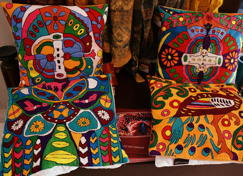 AHAN hand embroidered cushions - Sabeena Ahmed and The Little Fair Trade Shop