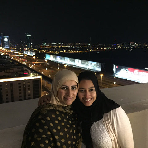 Sabeena Ahmed with Amna Al Hadad January 2017 Dubai, UAE