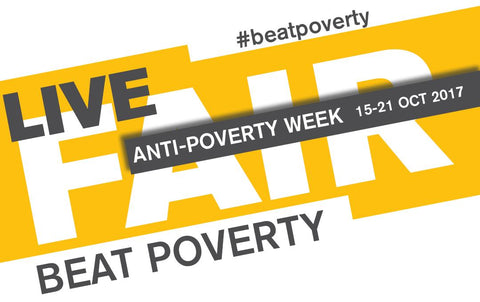 Official Poster WFTO - Live Fair Beat Poverty, Anti Poverty Week October 2017