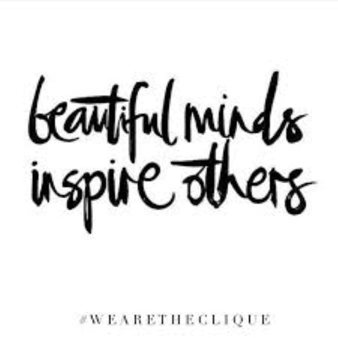 Beautiful minds inspire others - Inspire others to ditch fast fashion and support fairtrade and ethical producers