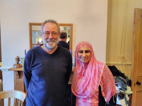 Bruce Crowther MBE Director of The FIG Tree and Sabeena Ahmed, Garstang, UK - November 2016