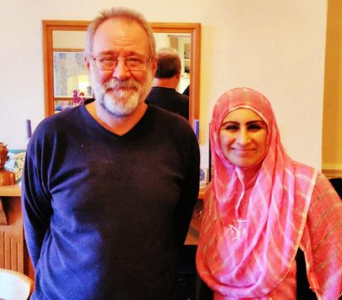 Sabeena Ahmed with Bruce Crowther MBE, Garstang, UK - Chocolate Masterclass 2016
