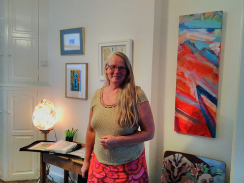 Corella Huges owner and curator of the beautiful ArtHouse Falmouth, Cornwall stayed August 2018