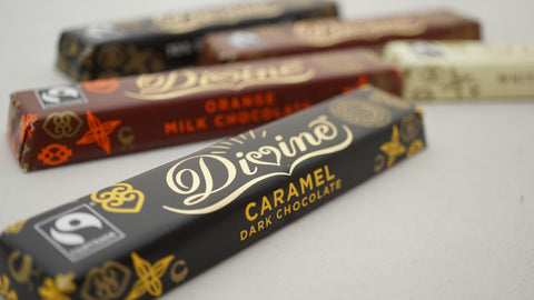 Divine Chocolate bars by The Little Fair Trade Shop and Sabeena Ahmed