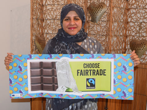 Sabeena and Irem Ahmed supporting Fairtrade Fortnight 2020 Dubai, UAE -#SheDeserves