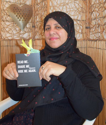 Irem Ahmed shows off her fairtrade story bomb for Fairtrade Fortnight 2020, Dubai and the UAE with Sabeena Ahmed