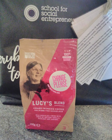 Day 1 SSE Gifts -Change Please Lucy's Blend Coffee at The Good Hotel 30th July 2018