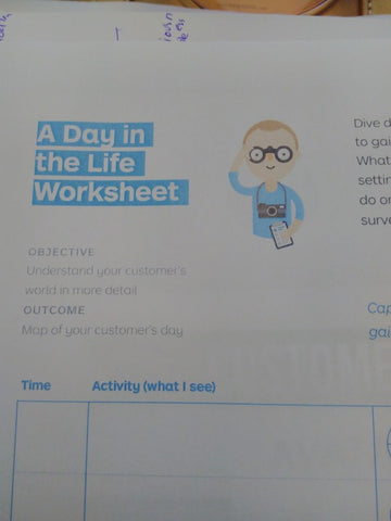 Day 5 Expert Session with Reetu Sood A day in the life worksheet