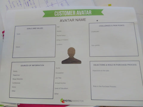 Day 5 Expert Session with Reetu Sood Customer Avatar worksheet