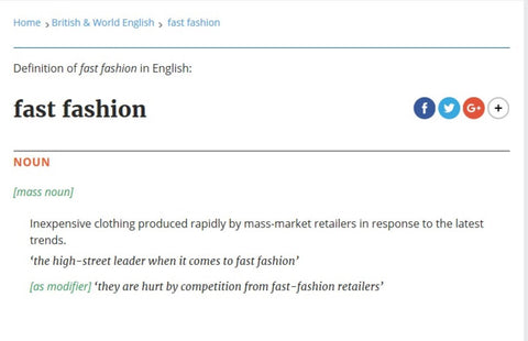 Definition of Fast Fashion