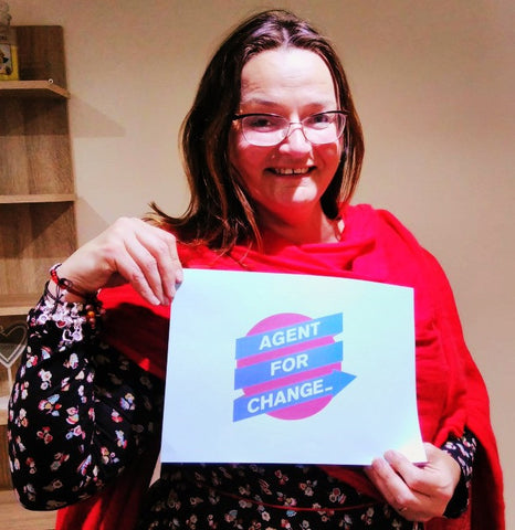 Dr Sara Parker - Agent for Change celebrating World Fair Trade Day - Manchester April 2017