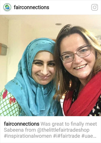 Dr Sara Parker and Sabeena Ahmed on Instagram via Fair Connections April 2017