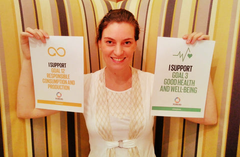 Ellen Van Dongan and her sustainable goals for development, Dubai, UAE with Sabeena Ahmed