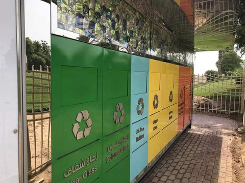 Recycling Centre Al Barsha Dubai - Plastic Free July with Sabeena Ahmed