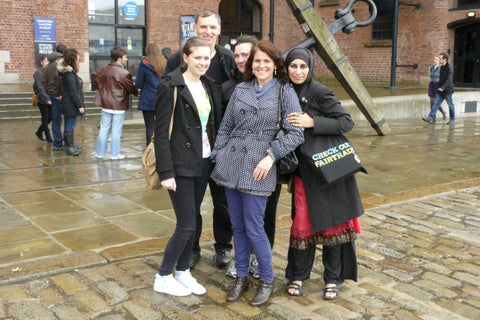 Liverpool Fair Trade Postgraduate Course - Sabeena Ahmed with Jenny Foster and other fairtrade campaigners, June 2012