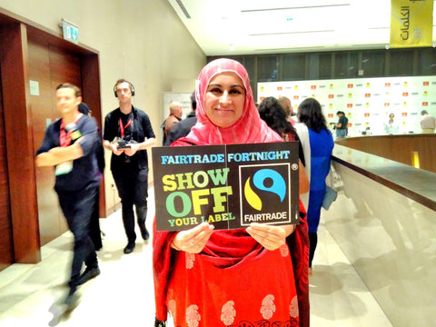 Sabeena Ahmed celebrating Fairtrade Fortnight Dubai, UAE