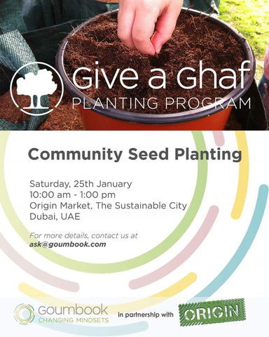 Sabeena Ahmed Proud to support Plant A Ghaf Tree Initiative with Social Enterprise Goumbook, at Sustainable City, Dubai, UAE - January 2020