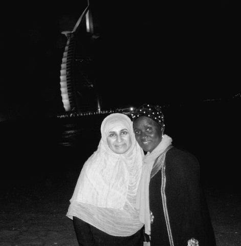 Sabeena Ahmed with environmental activist and autor Isatou Ceesay visiting Dubai March/April 2019