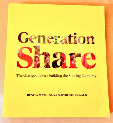 My copy of Generation Share kindly signed by Benita Matofska - Sabeena Ahmed and The Little Fair Trade Shop