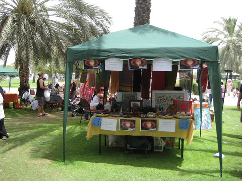 Sabeena Ahmed - My fairtrade journey, first stall at the Dubai Flea Market 2008, Dubai, UAE