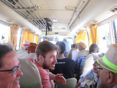 The International Fair Trade Co-ordinators and me on the bus to Fourzol, Lebanon - June 2016
