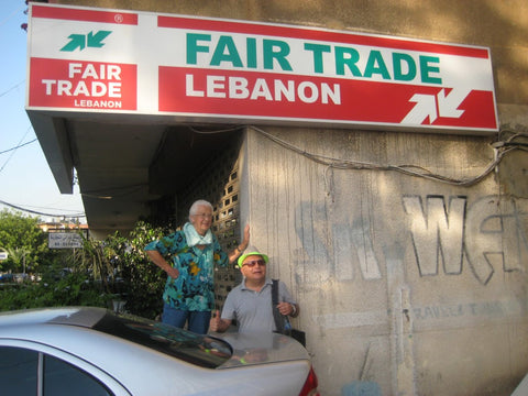 Fair Trade Lebanon Headquarters, Beirut with Ailsa and Luis - The Little Fair Trade Shop