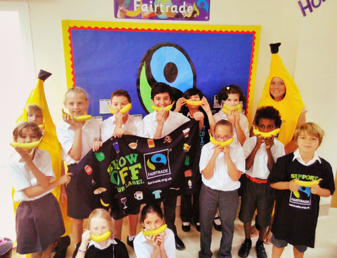 Yr 5 learners at Manor Primary School Dubai. What is fair trade lesson by Sabeena Ahmed and The Little Fair Trade Shop