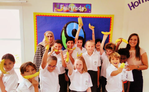 Sabeena Ahmed teaching Year 5 fair trade at the Manor Primary School Dubai September 2017
