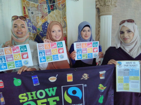 Beautiful Dubai ladies supporting Anti-Poverty Week 2017, Dubai, UAE with Sabeena Ahmed and The Little Fair Trade Shop