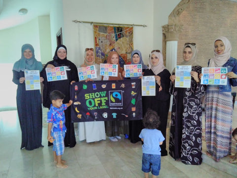 Beautiful Dubai ladies supporting Anti-Poverty Week, Dubai, UAE with Sabeena Ahmed and The Little Fair Trade Shop