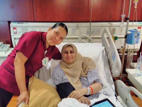 After surgery with Nurse Ruth At the American Hospital Dubai, Oct 17