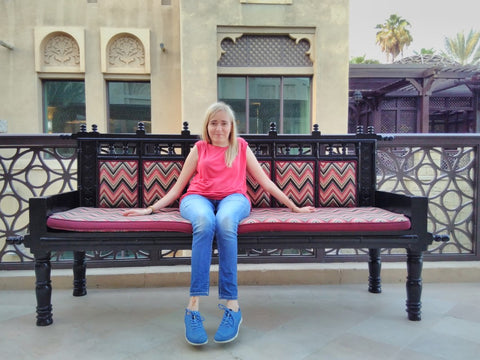 Joanna Smieja at Madinat Jumeirah, Dubai, UAE with Sabeena Ahmed October 17