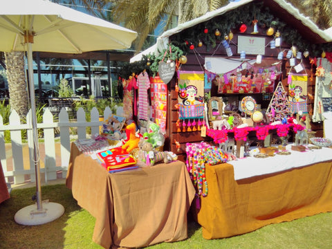 Sabeena Ahmed and The Little Fair Trade Shop at the Swiss Business Council Xmas Market 2018 Abu Dhabi UAE