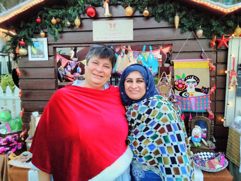 Ms Claudine Maagar and Sabeena Ahmed at the Swiss Business Council Christmas Market 2018